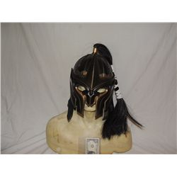 ANCIENT MONGOLIAN FIRE NATION WARRIOR SCREEN USED HELMET WITH BAT LIKE FACE SHIELD 3
