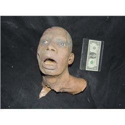 DARK REMAINS SCREEN USED SILICONE HEAD AND BUST