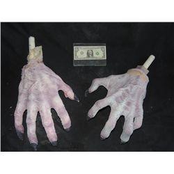 MATCHED PAIR OF ALIEN DEMON MONSTER CREATURE HANDS