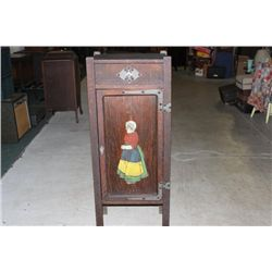 MISSION STYLE ARTS AND CRAFTS MUSIC CABINET AND ONE