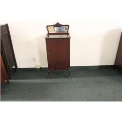 SOLID MAHOGANY MUSIC CABINET WITH EIGHT SWING OUT