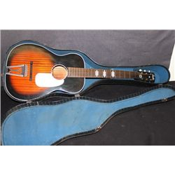 VINTAGE ACOUSTIC STELLA GUITAR IN ORIGINAL CASE -