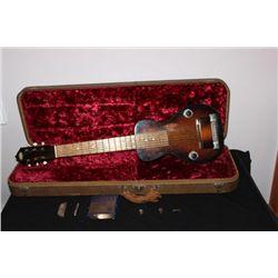 VINTAGE OAHU LAP STEEL GUITAR IN ORIGINAL CASE PLUS 2