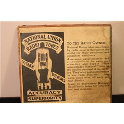 GREAT PIECE OF RADIO TUBE ADVERTISING 17.5 X 16 -