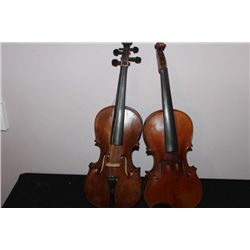 2 NICE VIOLINS FOR RESTORATION OR PARTS