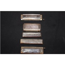 5 HARMONICAS ALL VINTAGE MADE IN GERMANY - 2 BY KOCH -