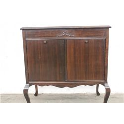BEAUTIFUL MAHOGANY DOUBLE SIDE SONORA VICTROLA WITH