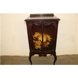 TERRIFIC HAND-PAINTED MUSIC CABINET - VERY GOOD