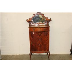 MAGNIFICENT CHERRY AND MAHOGANY MUSIC CABINET WITH 9
