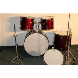 DRUM SET INCOMPLETE BUT WHAT IS HERE'S NICE MADE BY
