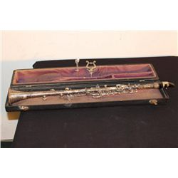 SILVERPLATED CLARINET COMPLETE WITH CASE