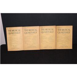 4 MUSICAL QUARTERLY 2 1939 - 1 1940 - 1 1941 - GOOD