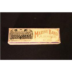 HOHNER GERMANY MARINE BAND HARMONICA IN ORIGINAL BOX