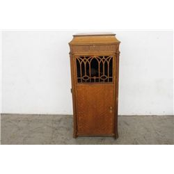 TALL FLOOR MODEL EDISON VICTROLA IN EXCELLENT WORKING