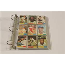1961 TOPPS BASEBALL PARTIAL SET INCLUDES 290 CARDS OF 589 CARD SET OVERALL IN VG/EX CONDITION