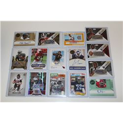 LOT OF 15 AUTHENTIC NFL SIGNATURE CARDS