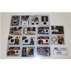 LOT OF 15 AUTHENTIC NHL GAME USED JERSEY CARDS