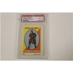 1970 TOPPS/OPC GORDIE HOWE STICKER STAMPS, PSA GRADED 8
