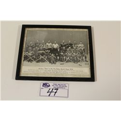 "1934 CCM BROWN BORDER ALL STAR ""STARS"" FRAMED TEAM PICTURE"