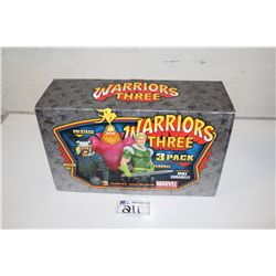 MARVEL MINI BUST 3 PACK-  WARRIORS, NEW IN BOX 536/700