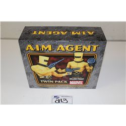 MARVEL MINI BUST TWIN PACK-  A.I.M AGENT, NEW IN BOX 320/1500