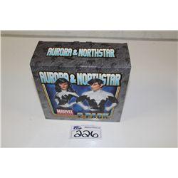 MARVEL MINI BUST- 2 PACK AURORA & NORTHSTAR,  NEW IN BOX 732/1500