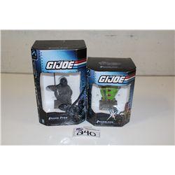 2 GI JOE MINI BUST- SNAKE EYES 2548/4500 AND ROADBLOCK 403/2502
