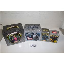 4 MARVEL MINI BUSTS, NEW IN BOX INCLUDING: ANNIHLUS 351/2000, YELLOW JACKET 175/4000, BLACK