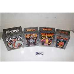 4 MARVEL MINI BUSTS, NEW IN BOX INCLUDING: THE LEADER 1775/2000, BATROC 664/800, KINGPIN 2143/2500,