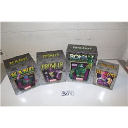 4 MARVEL MINI BUSTS, NEW IN BOX INCLUDING: RONAN THE ACCUSER 779/1000, BARON ZEMO 2038/4000, THE