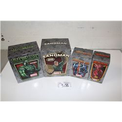 4 MARVEL MINI BUSTS, NEW IN BOX INCLUDING: CONSTRICTOR 537/1500, MEPHISTO 1634/2000, TITANIUM MAN
