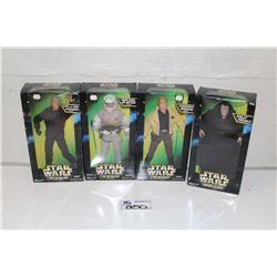 """4-STAR WARS 12"""" ACTION FIGURE COLLECTION, NEW IN BOX"""