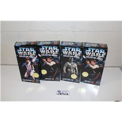"4-STAR WARS 12"" ACTION FIGURE COLLECTION, NEW IN BOX"