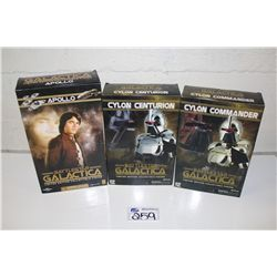 3- BATTLESTAR GALACTICA LIMITED EDITION COLLECTABLE, NEW IN BOX