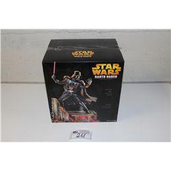 "STAR WARS DARTH VADER, COLD CAST 17"" STATUE, NEW IN BOX"