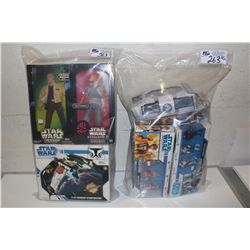 2 BAGS OF ASSORTED STAR WARS, NEW IN BOX TOYS