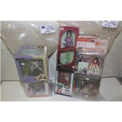 2 BAGS OF ASSORTED KOTOBUKIYA, AND ANIME, NEW IN BOX TOYS
