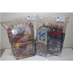 2 BAGS OF ASSORTED MARVEL, NEW IN BOX TOYS