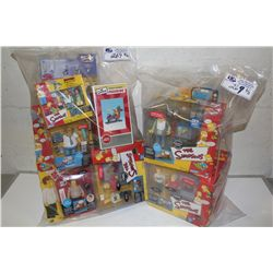 2 BAGS OF ASSORTED THE SIMPSONS, NEW IN BOX TOYS