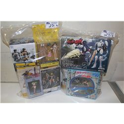 2 BAGS OF ASSORTED AME-COMI AND ARTFX, NEW IN BOX TOYS