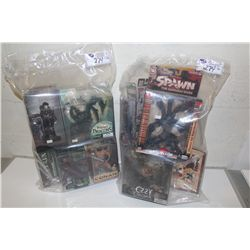 2 BAGS OF ASSORTED SPAWN, THE MATRIX, CONAN ETC, NEW IN BOX TOYS