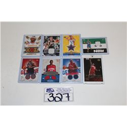 8 NBA AUTOGRAPHED AND JERSEY CARDS INCLUDING LEBRON JAMES UD STAR ROOKIE