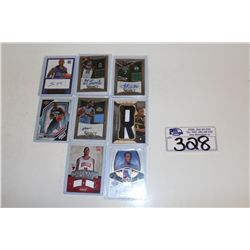 8 NBA AUTOGRAPHED AND JERSEY CARDS INCLUDING WALTER SHARPE PATCH CARD