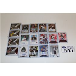 16 ASSORTED NFL AUTOGRAPHED CARDS