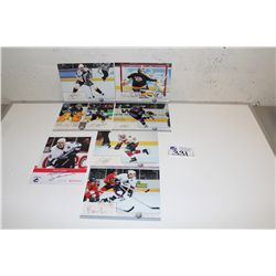 7 ASSORTED NHL AUTOGRAPHED PORTRAITS INCLUDING: JAROME IGINILA, STEVE SULLIVAN, M.A. FLEURY, TREVOR