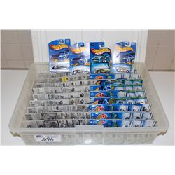 HOT WHEELS RUBBERMAID CONTAINING 100 TREASURE HUNTS, MINT ON BOARD
