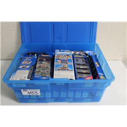 HOT WHEELS RUBBERMAID CONTAINING 25 SETS OF MINT ON BOARD 5 PACKS