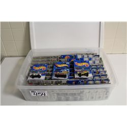HOT WHEELS RUBBERMAID CONTAINING 90+ MINT ON BOARD CRYCO & DOGFIGHTERS