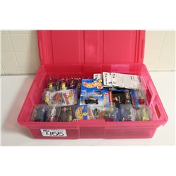 HOT WHEELS RUBBERMAID CONTAINING A MIX OF MINT ON BOARD RARES