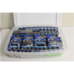 HOT WHEELS RUBBERMAID CONTAINING 90+ MINT ON BOARD 2005 MIX